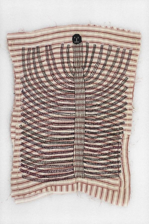 "Sick Kloth / Luvv Piece | Fabric, thread | 21.5"" x 16.5 | 2018"