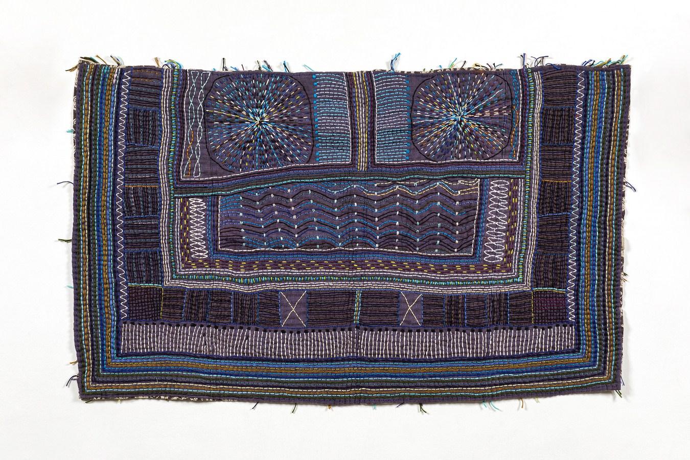 "Sea-Side / Pre-Monsoon | Fabric, thread | 18.5"" x 31.5"" | 2018"