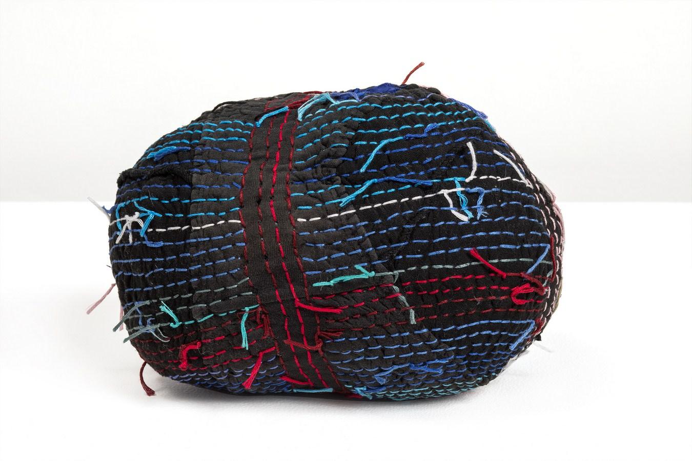 "3-D Brain | Underwear, fabric thread | 7"" x 3.5"" x 6"" | 2017"