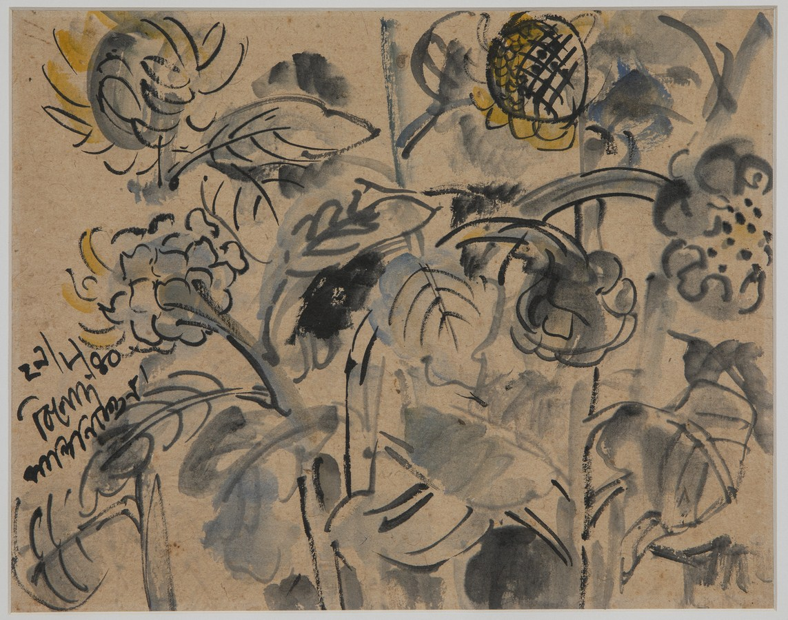 Sunflowers | Watercolour on paper | 32.2 x 40.4  | 29 – 8 – 40