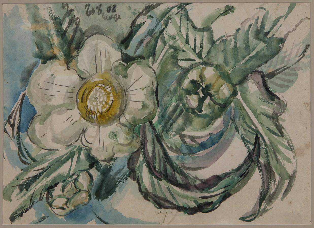 "Chalta – Flower | Watercolour on paper | 11"" x 15"" | 1947"