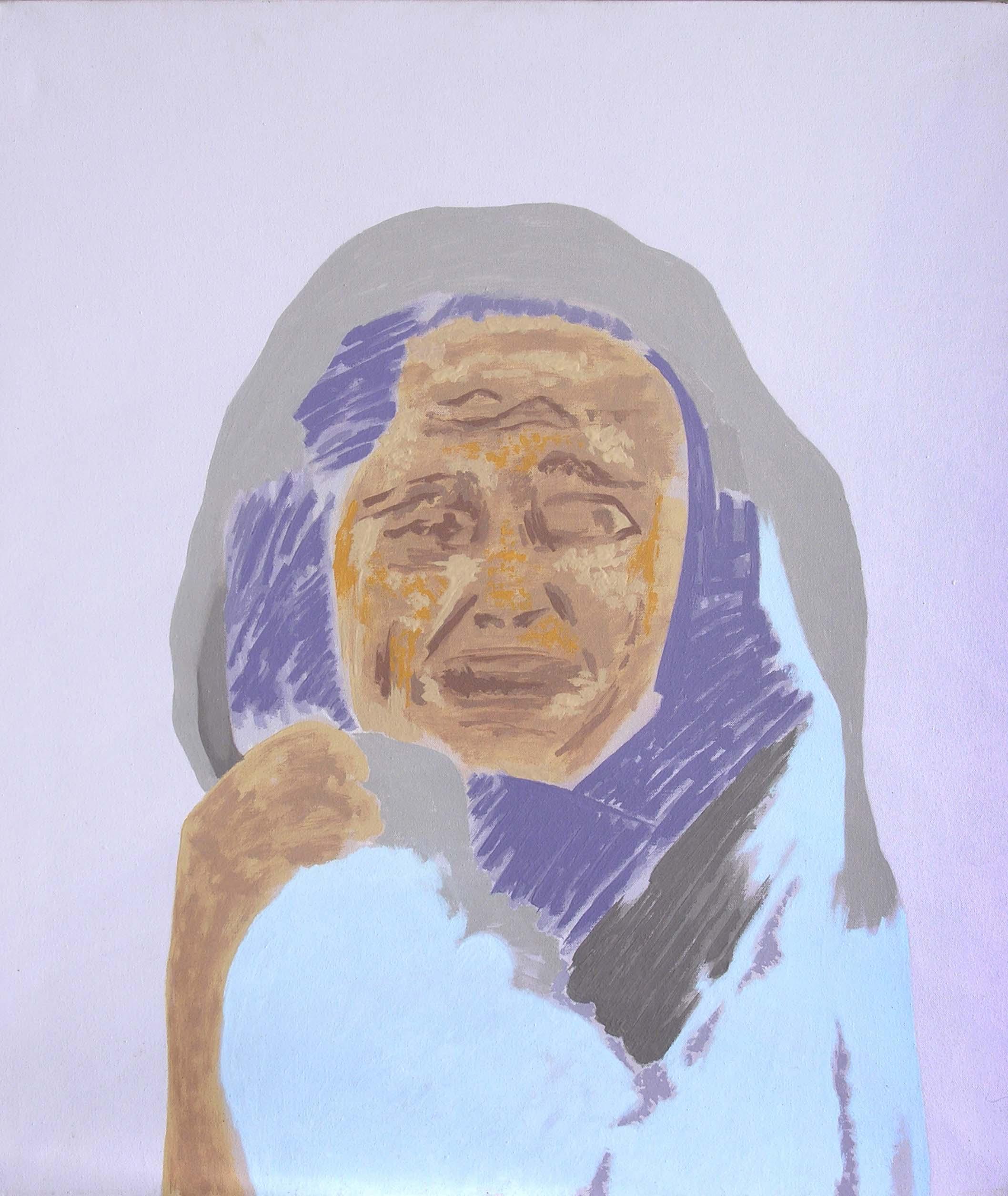 "Gieve Patel | Mourners - II | Acrylic on canvas | 36"" x 31"" | 2005"