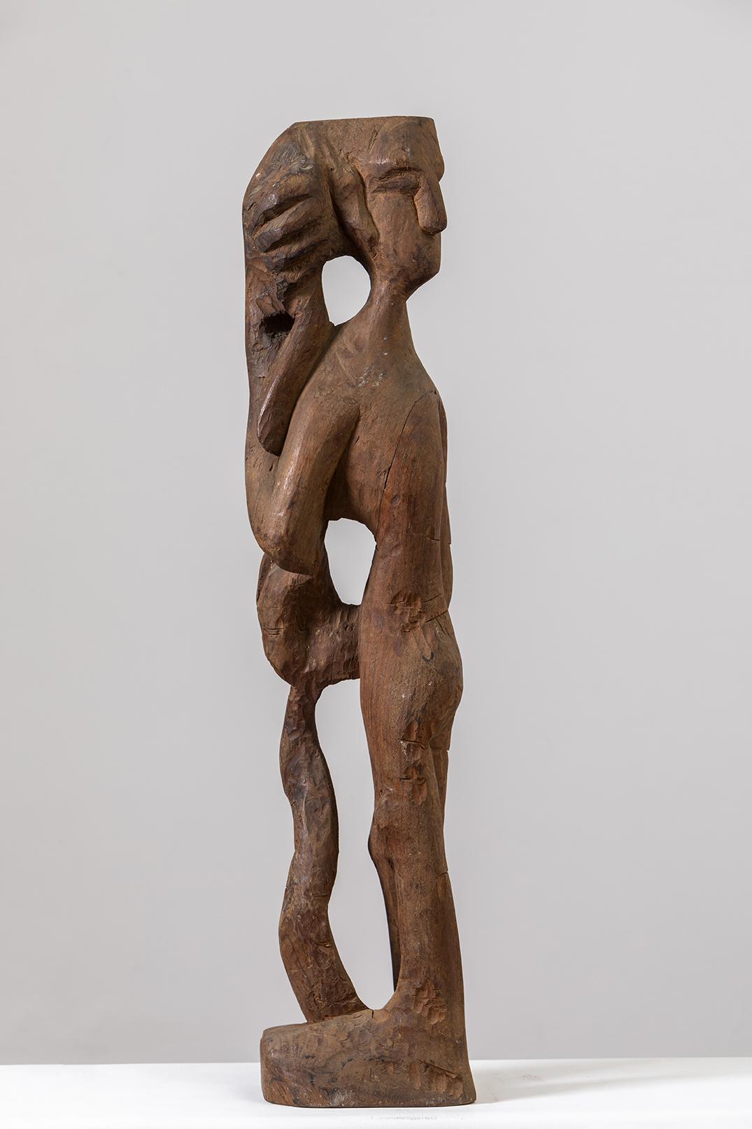 "Untitled | Wooden sculpture | 32"" x 7"" x 4.5"""