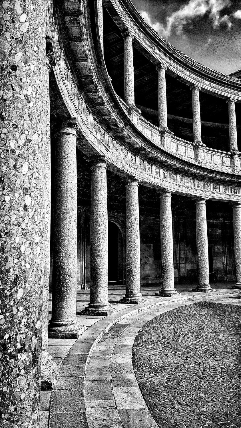 """The Palace of Carlos V. Grenada 