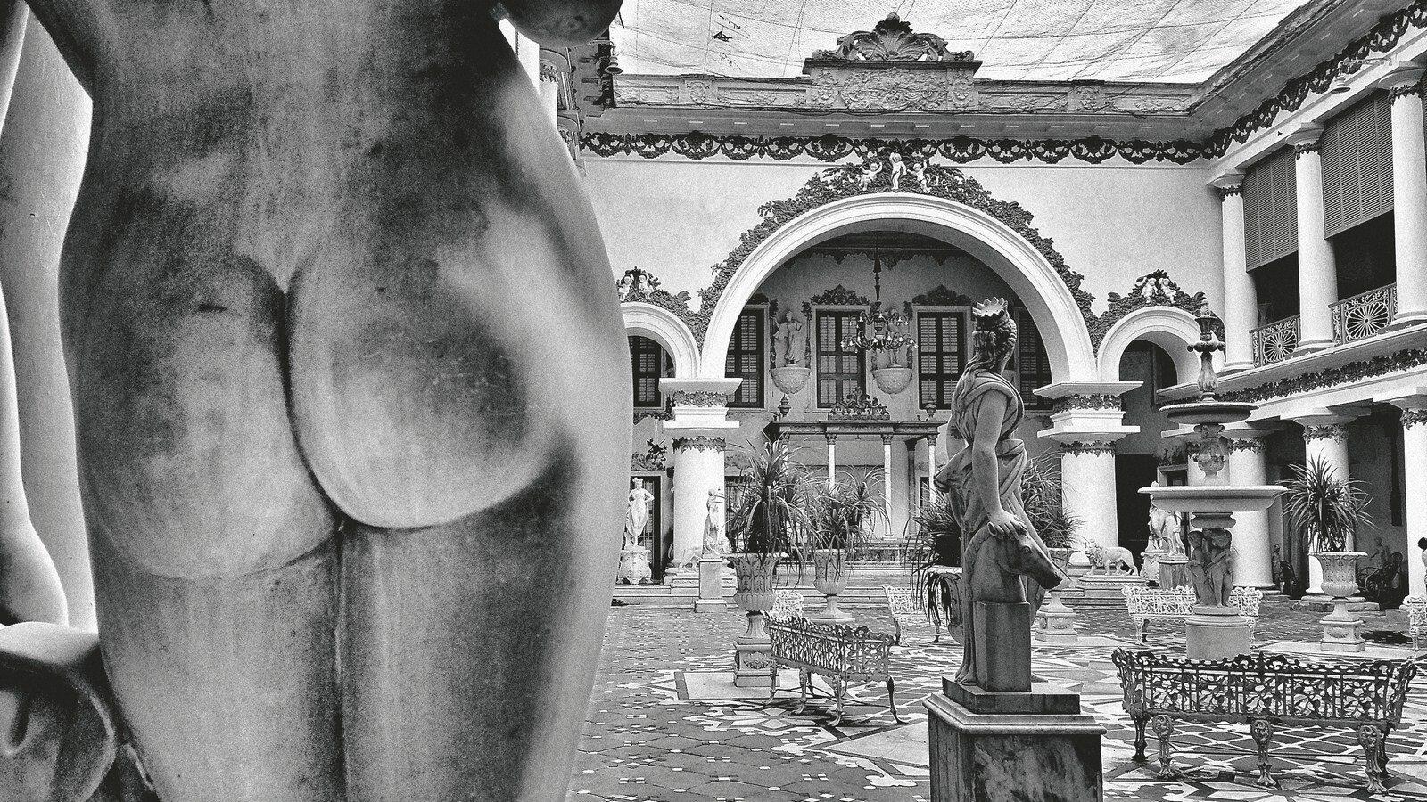 "Inside the Marble Palace, Calcutta | Digital print on photorag bright white paper | 14.5"" x 26"""