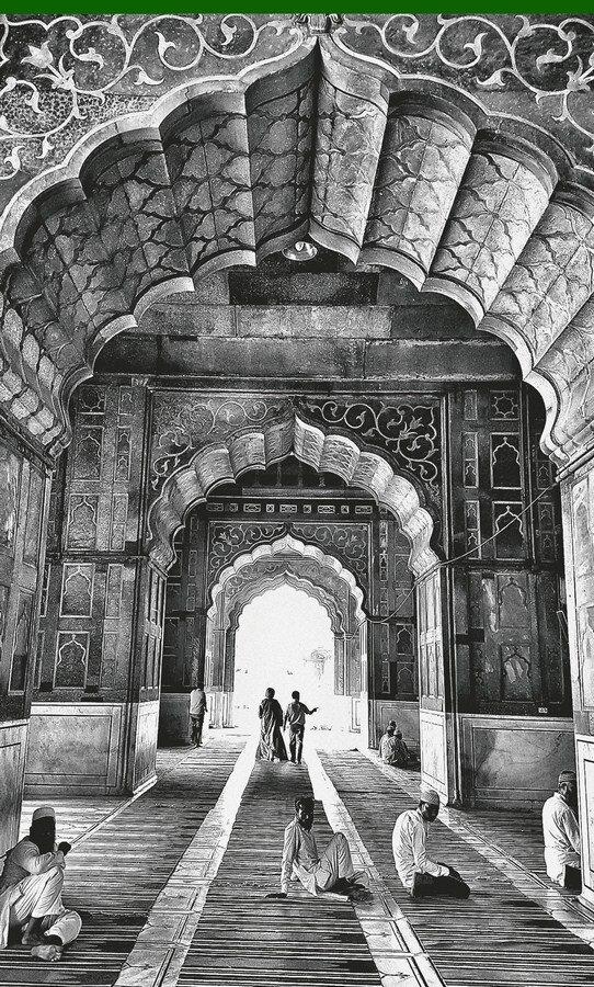 "Interior of Jama Masjid, Old Delhi | Digital print on photorag bright white paper | 26"" x 15.5"""