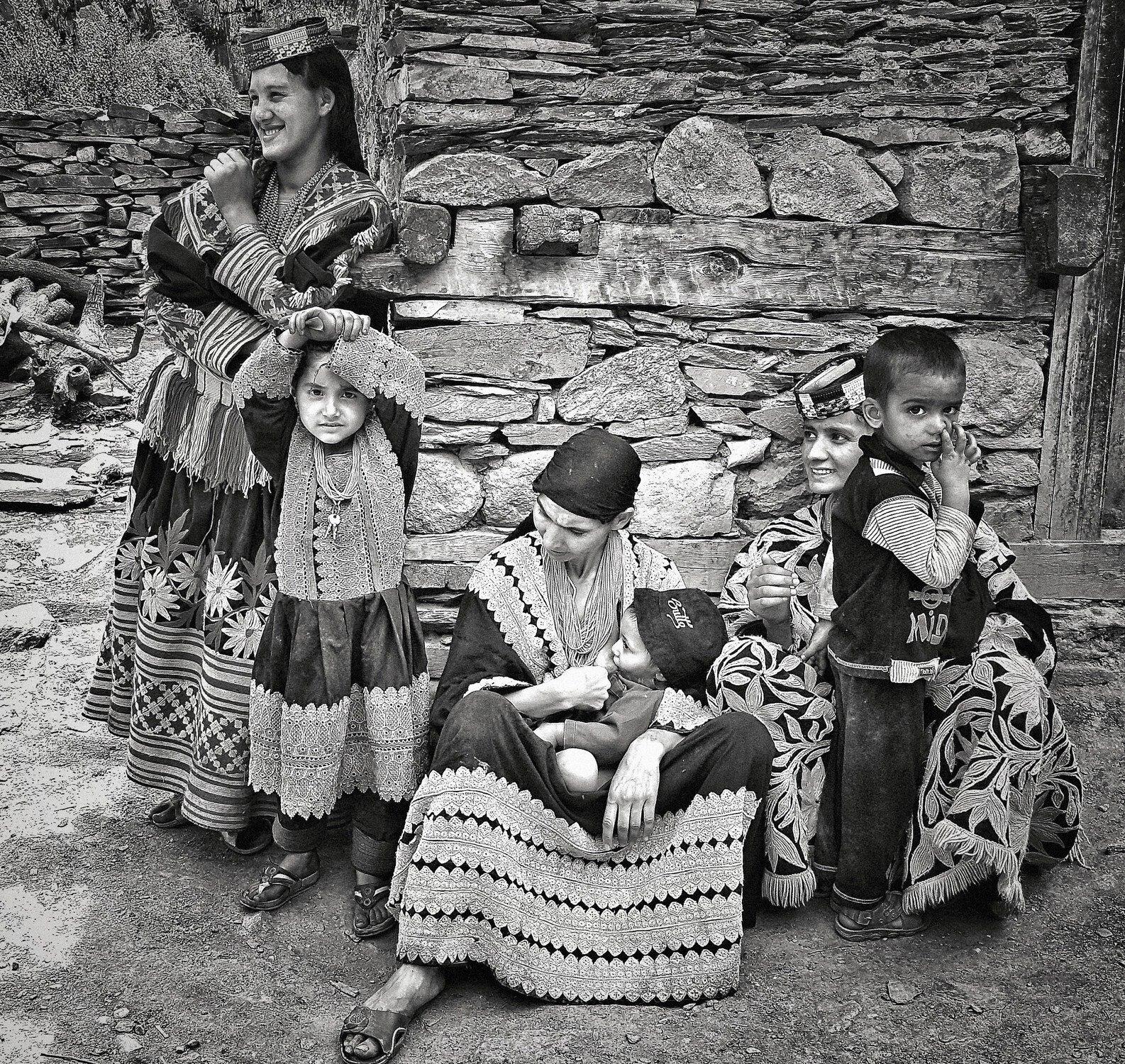 "Kalash women, Chitral, Pakistan | Archival pigment print | 16"" x 17"""