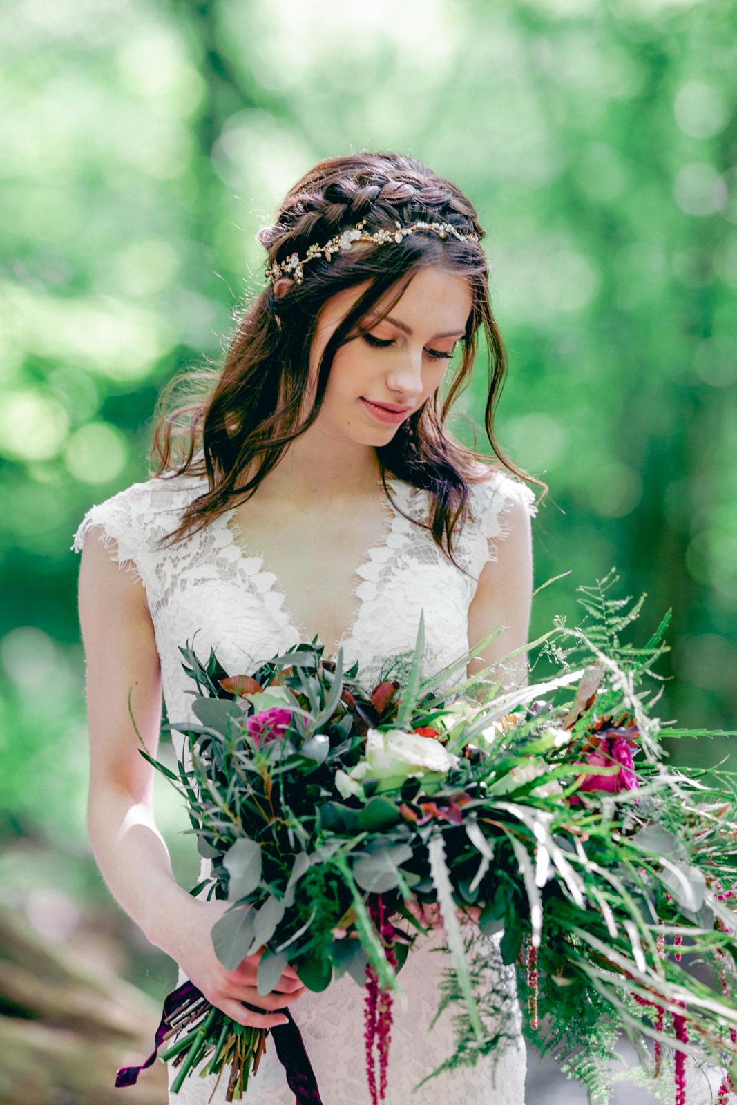 A woodland boho styled shoot -