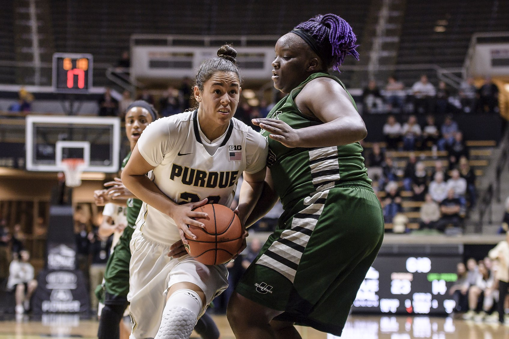 Both McBryde and Harris posted solid numbers against Coco Ritter and USC Upstate.