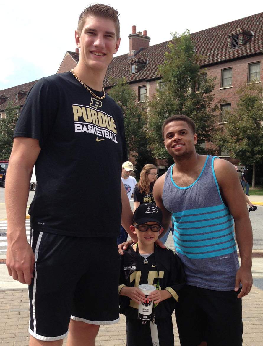 Lil' BDowd meets two likable Boiler Basketball Freshman in August, 2014
