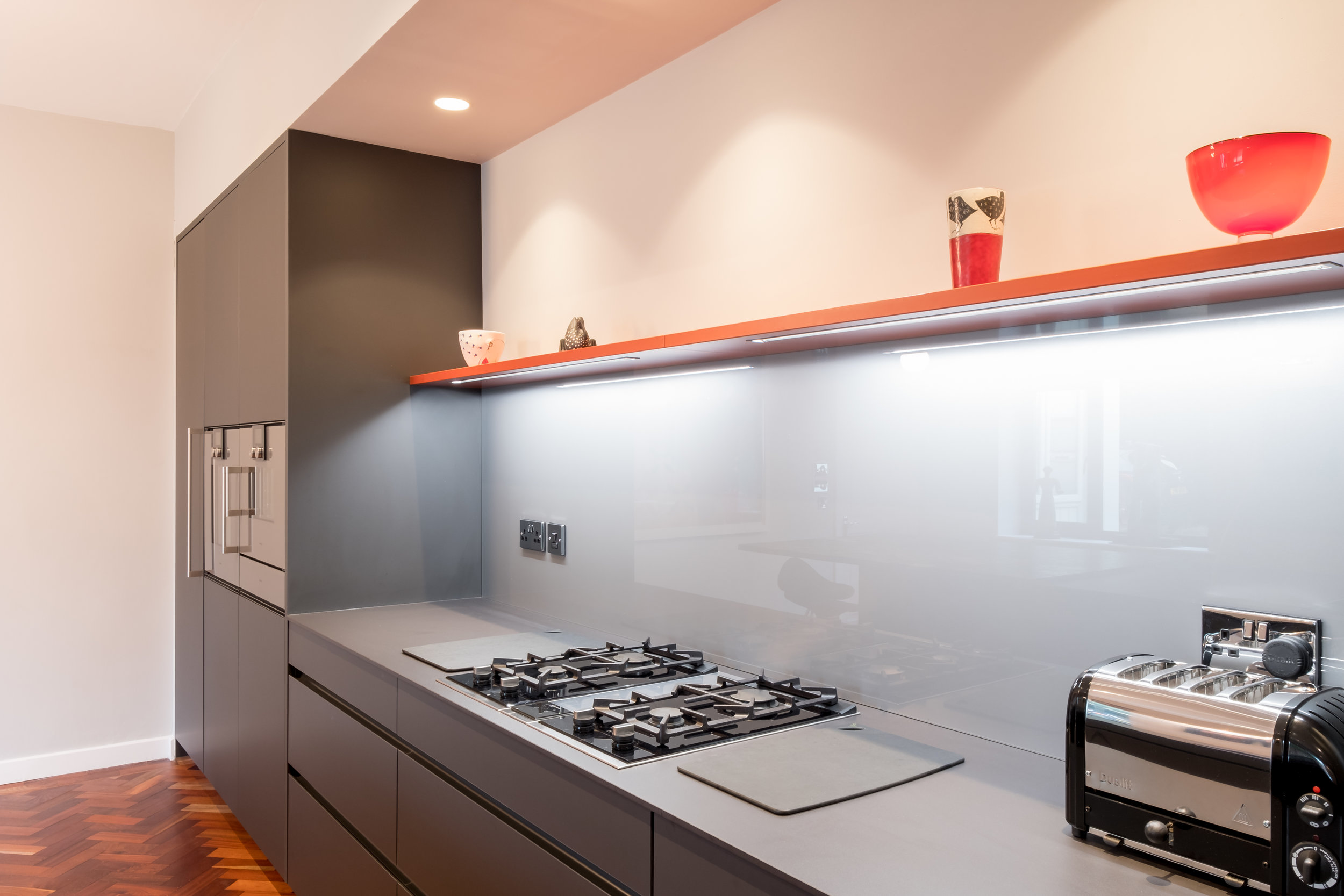 Cayenne and carbon grey kitchen 7