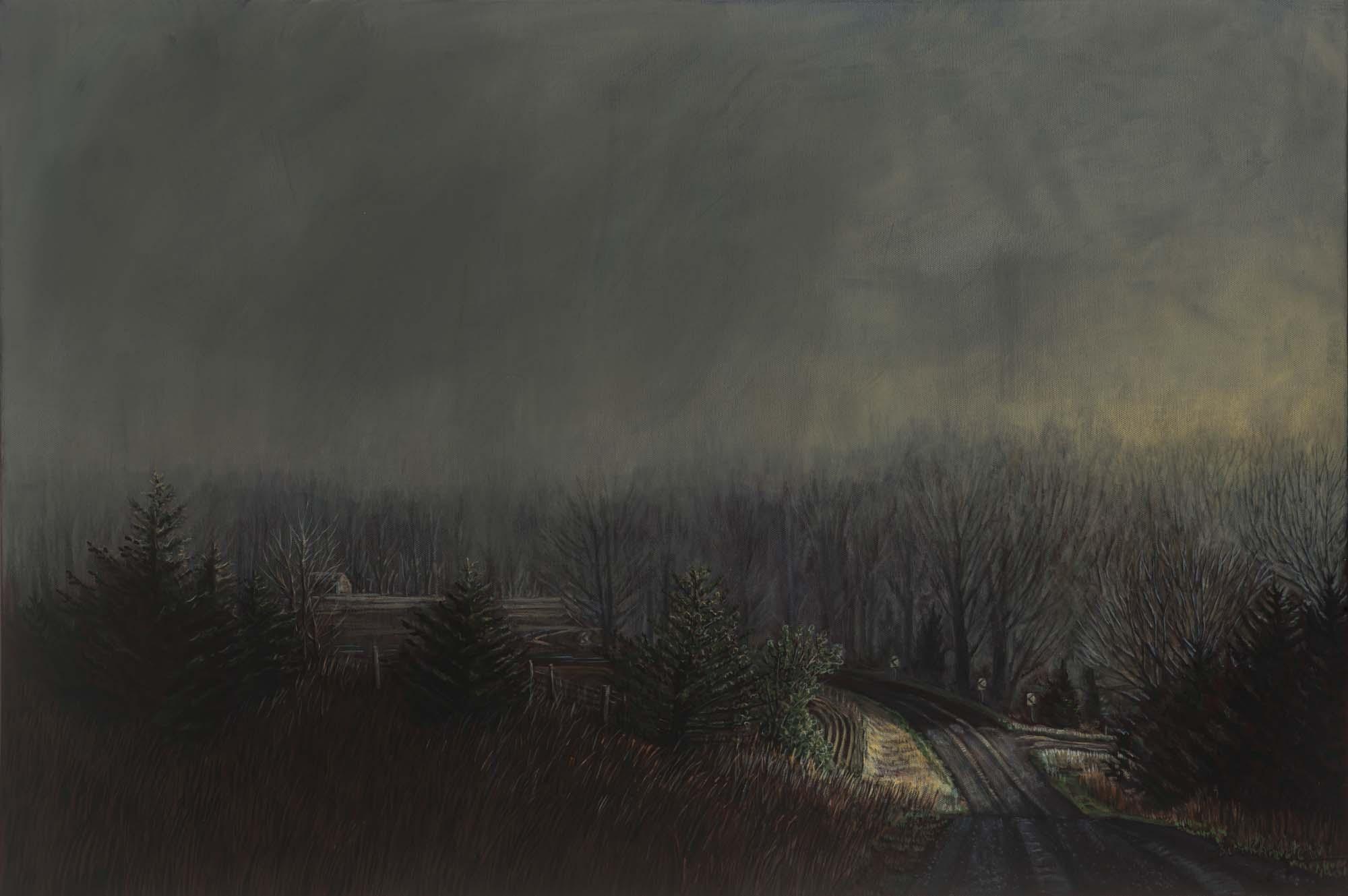Anne Burkholder -  Horizon 1246 Foggy Morning East of Beatrice,  2018  Lincoln, NE