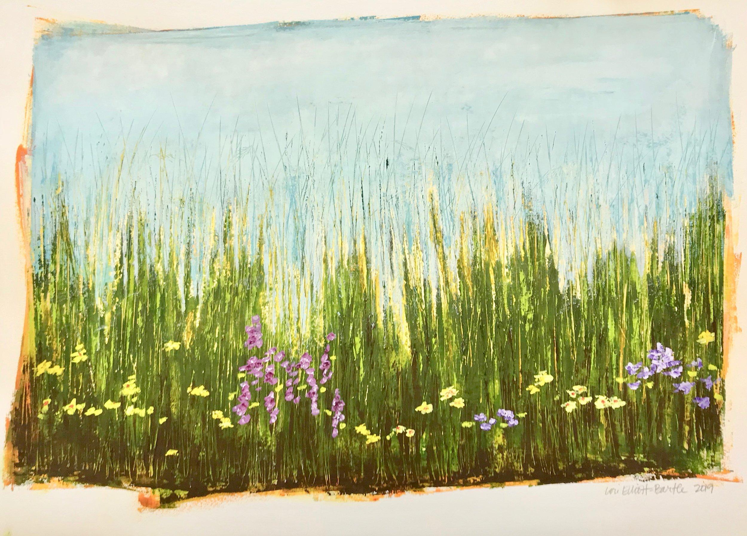 Lori Elliott-Bartle -  Blooms & Grasses #6 , 2019  Omaha, NE