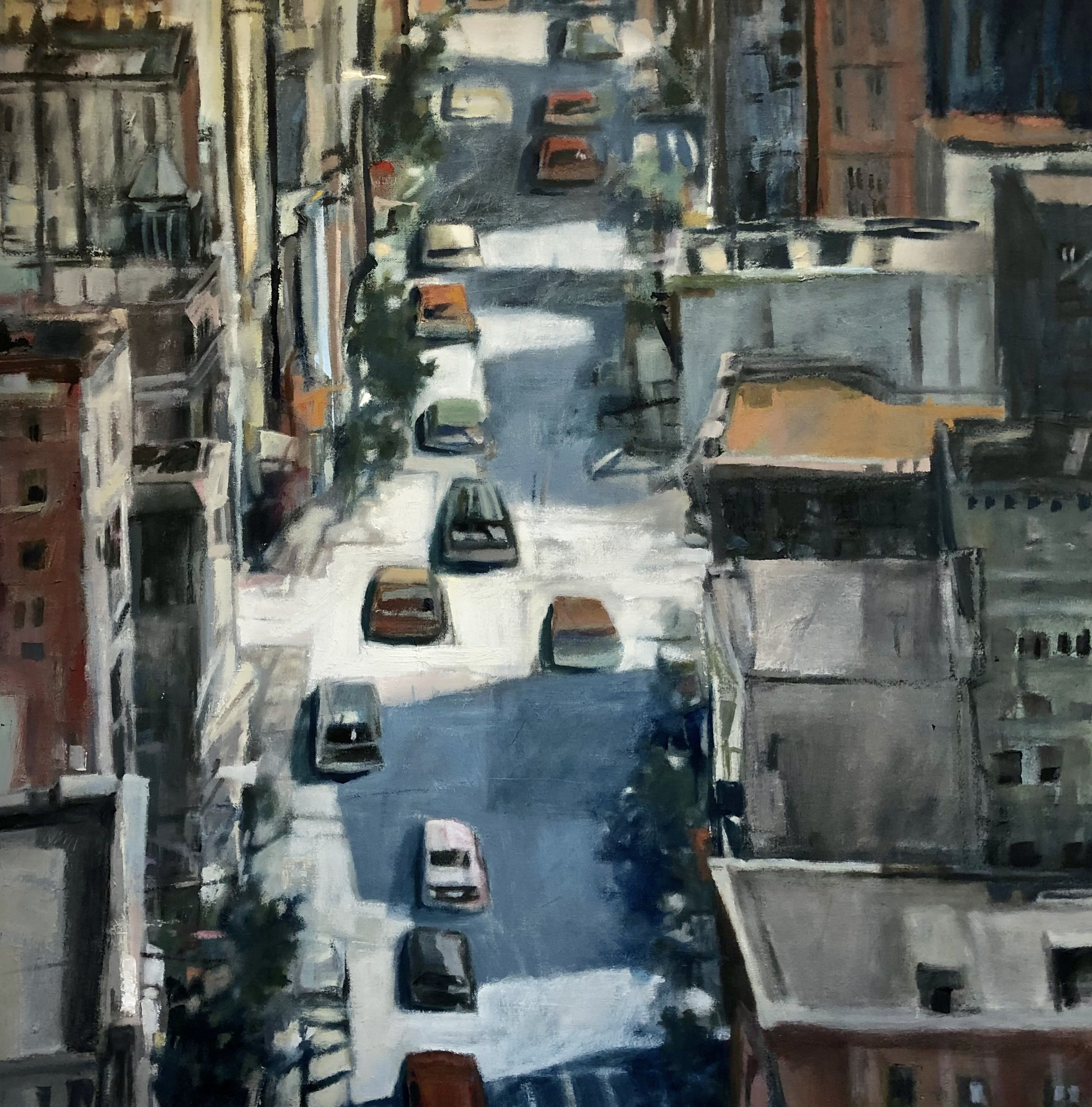 Kristine Hansen-Cain -  Hudson and Perry Streets,  2018  Omaha, NE
