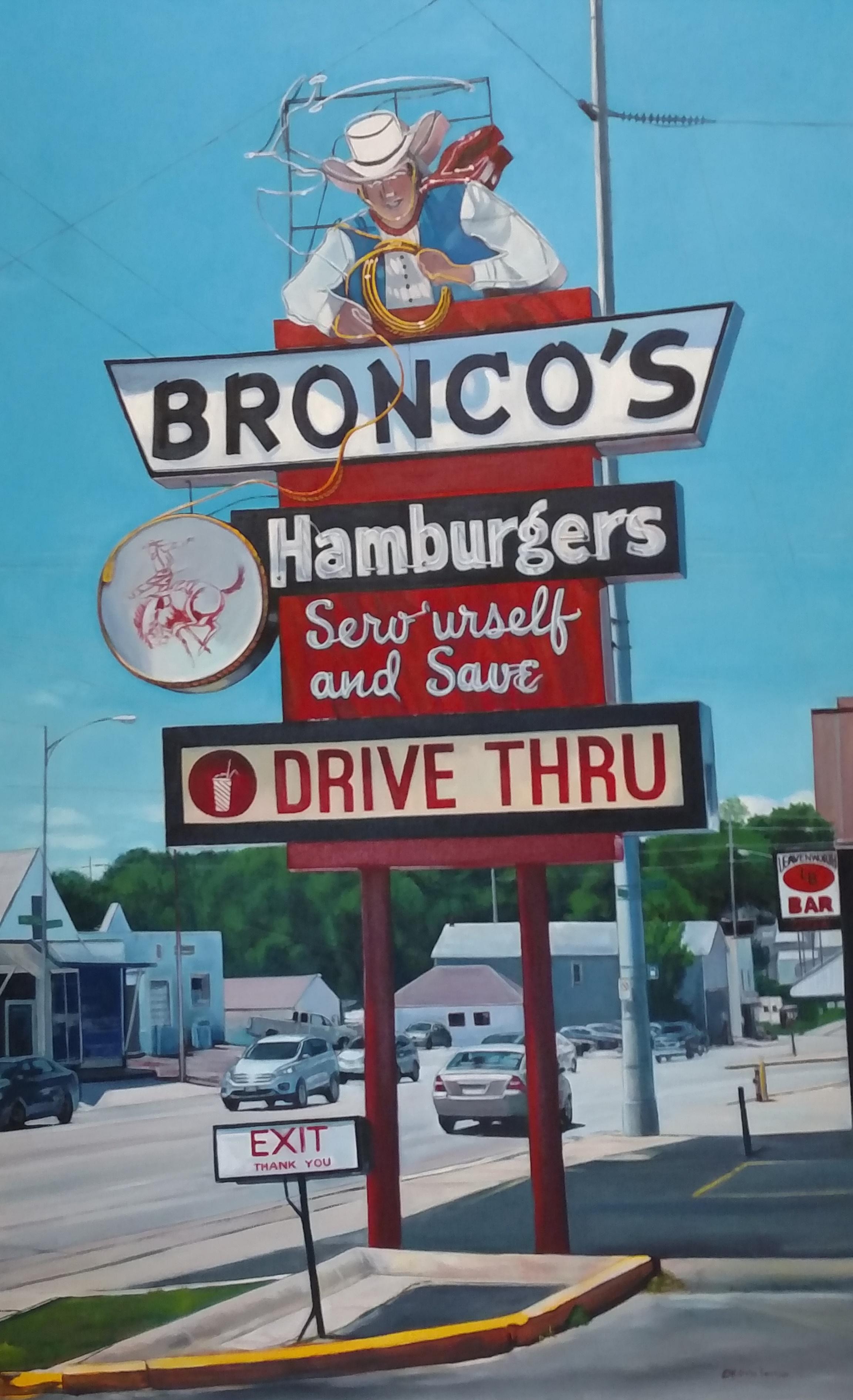 Katrina Methot-Swanson -  Bronco's Hamburgers Drive Thru , 2019  Omaha, NE
