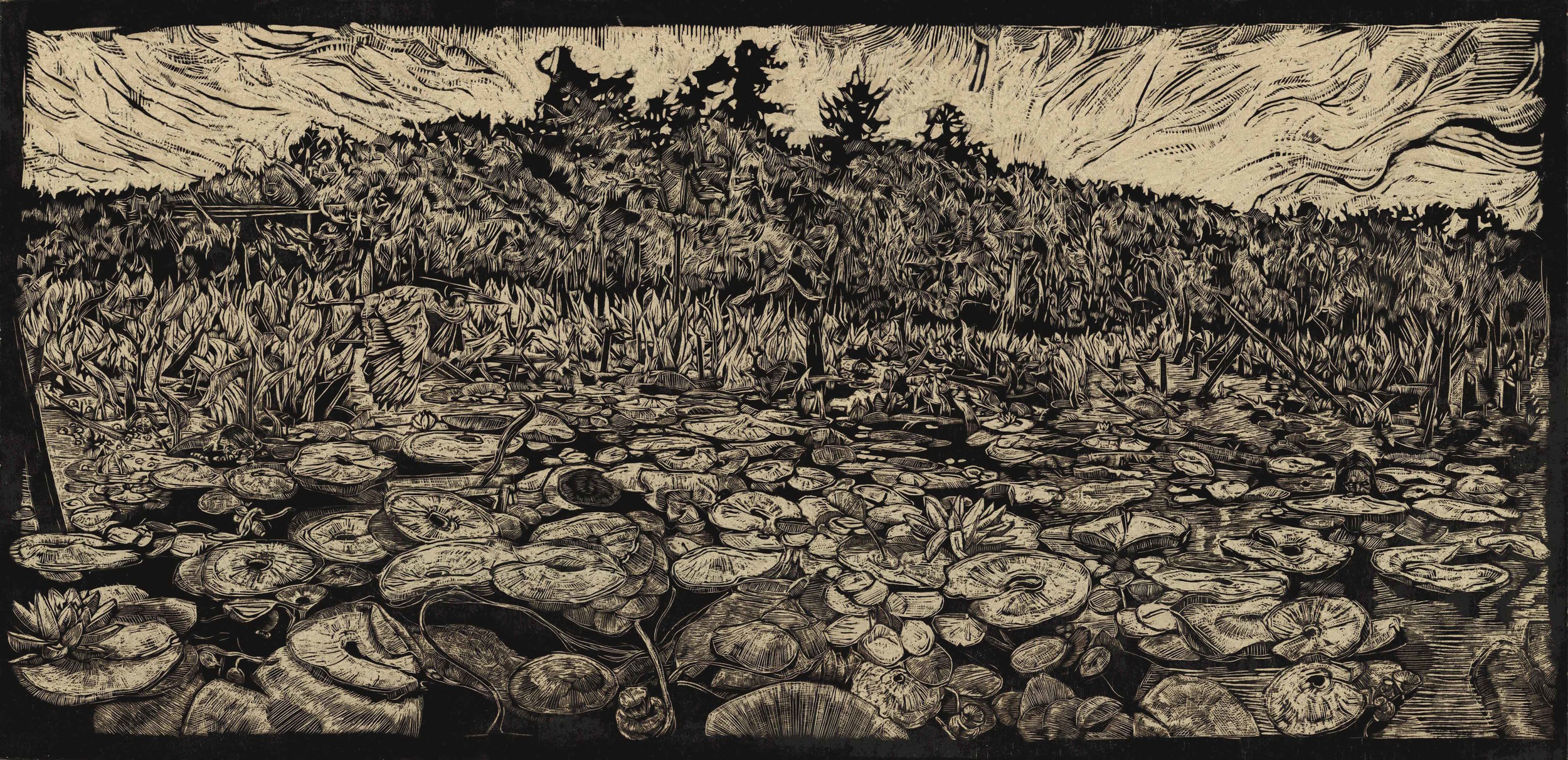 Watie White -  Holy Island: The Nokken,  2017  Omaha, NE   Winner - Best Printmaking