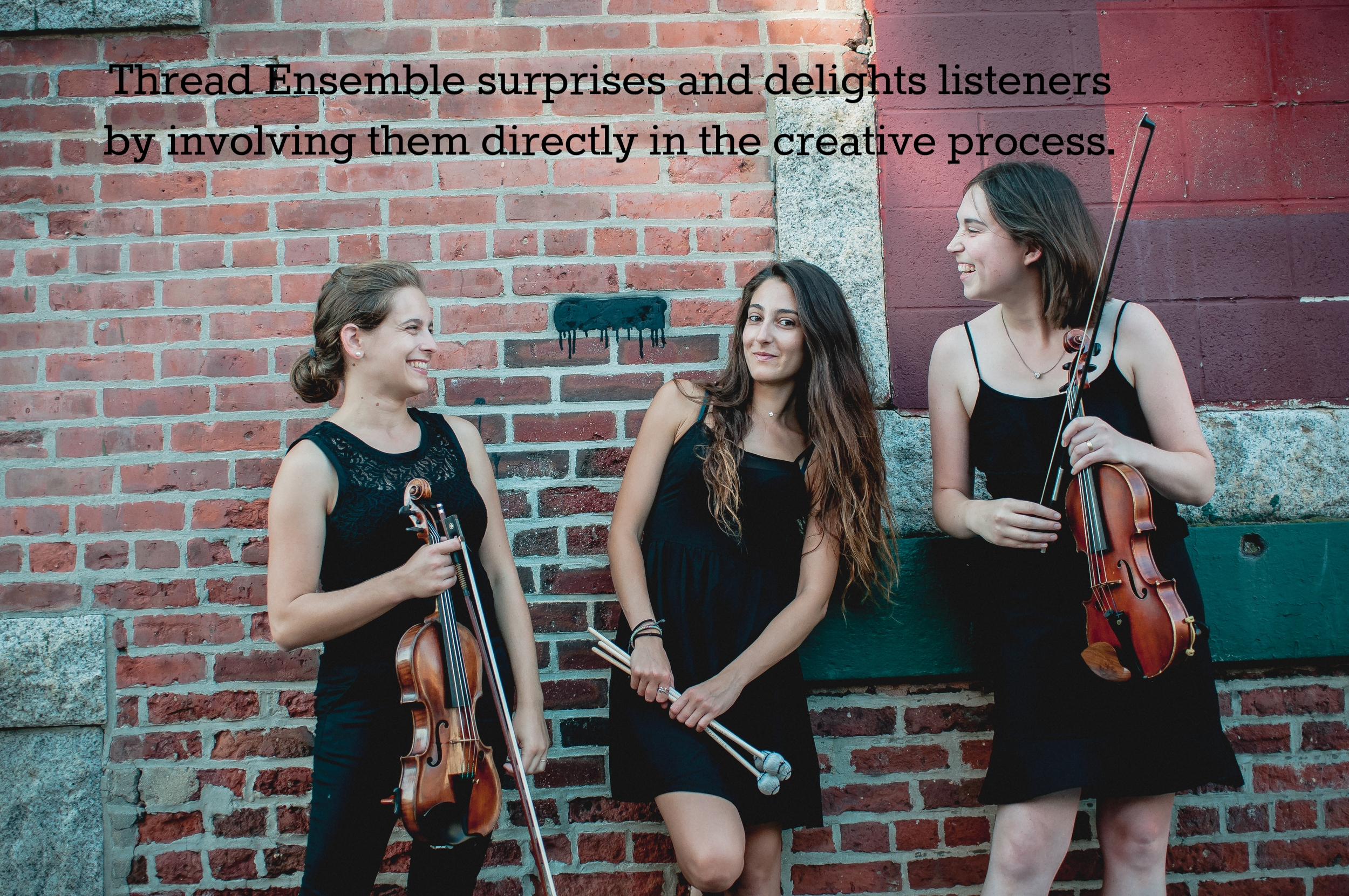 Thread Ensemble surprises and delights listeners by involving them directly in the creative process.
