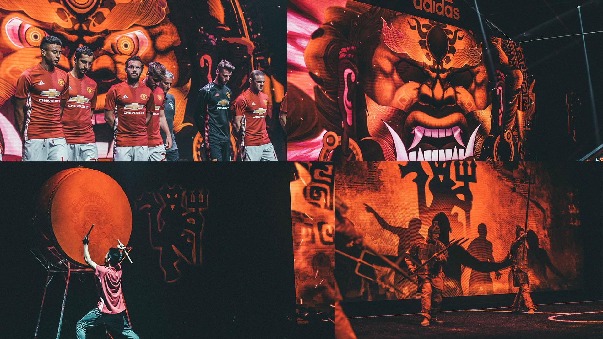 การเปิดตัวชุดแข่ง Manchester United 2016-17 ที่เซียงไฮ้ ประเทศจีน คือตัวอย่างที่ชาญฉลาดในการสร้างภาษาภาพใหม่ๆ จากความเข้าใจเรื่องสีที่เชื่อมโยงกับบริบททั้งทางวัฒนธรรม และความเชื่อ ทั้งฝั่งตะวันตก และตะวันออก จากปีศาจแดง และกลายเป็นเทพเจ้า