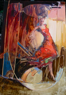 """""""FREE TO DANCE"""" (36 x 20 oil)"""