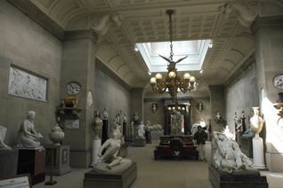 Here I am in the Duke's sculpture room.