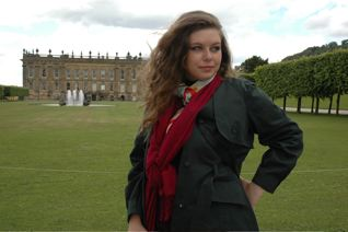 Here is my newly graduated daughter Lauren in the lawns of Chatsworth. As an art history major, she was equally stunned by Chatsworth.