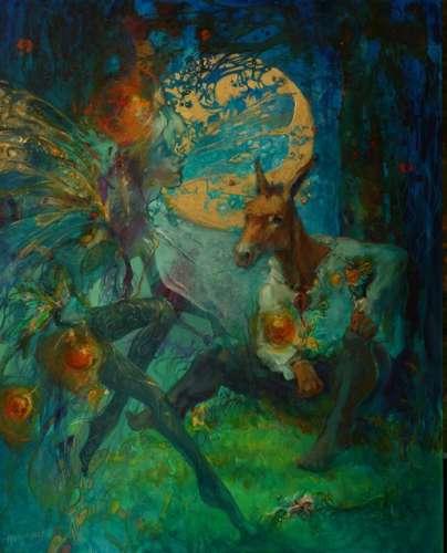 For Houston Grand Opera Exhibition: 30 x 24 acrylic