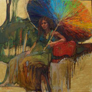 HIJA DEL SOL Lesley Humphrey 2009 36 x 36 oil