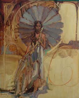 MANDALA 2009 oil 16 x 12 by Lesley Humphrey