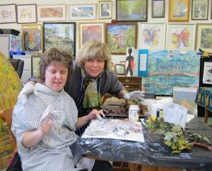 Annick & Lesley at Karen's