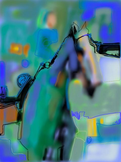 iphone art - Keeneland, April 2012 by Lesley Humphrey
