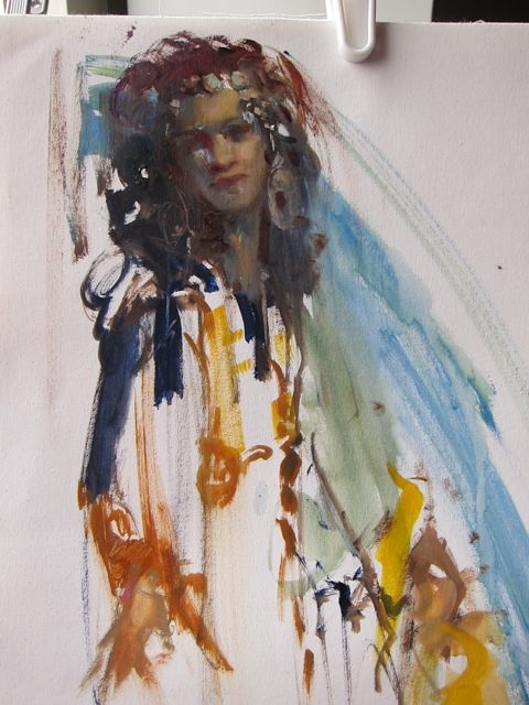 Belly Dancer.2 - 18 x 14 oil on canvas... 20 minute sketch