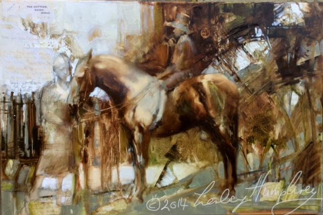 Little Betty : Freda's Letter by Lesley Humphrey Copyright 2014 – 20″ x 30″ Oil on canvas