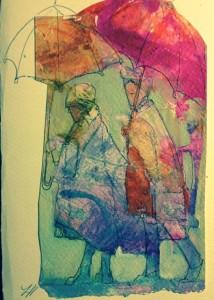 Eileen's Mac Ladies Watercolor by Lesley Humphrey
