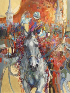 'Victory' : The official art of the 2011 Kentucky Derby by Lesley Humphrey