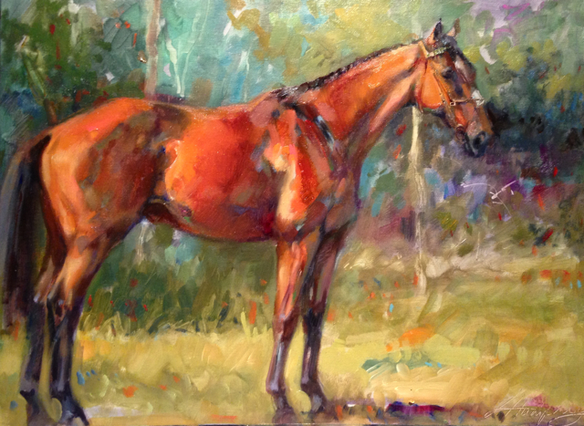 Carefully selected and applied 'halo lights' delineate form, separating the horse from the background in a subtle way. Take care to use this light very scantily, and I recommend in no more than 2 places.