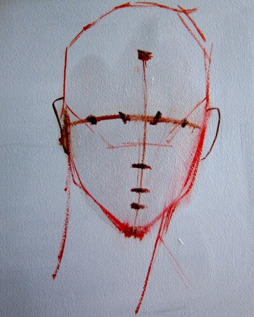 Insert Shadow Landmarks: Eye corner marks; nose bottom mark, lip/mouth opening mark; dental arch mark. (See explanations below)