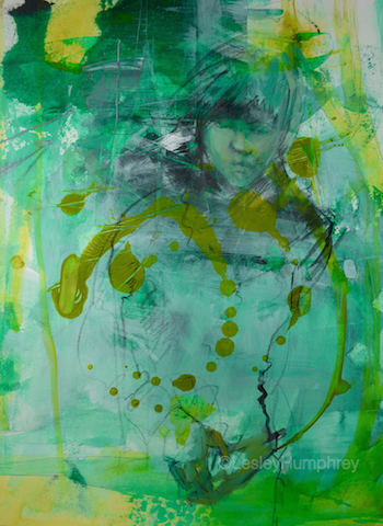 """WINDSWEPT 16"""" x 12"""" - acrylic, charcoal and watercolour on 140lb. hot-pressed watercolour paper"""