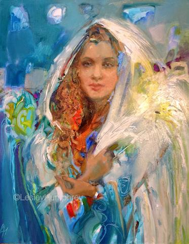 """SNOW ANGEL 28"""" x 22"""" - oil on canvas"""