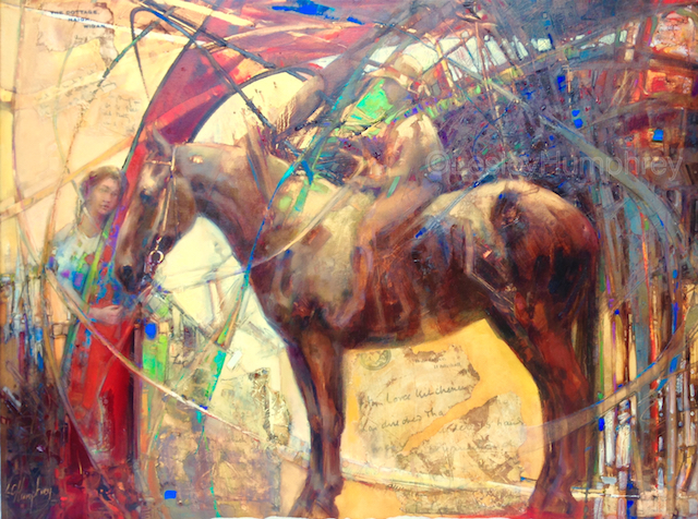 """OLD BETTY-WAR PONY 30"""" x 42"""" - oil on canvas"""
