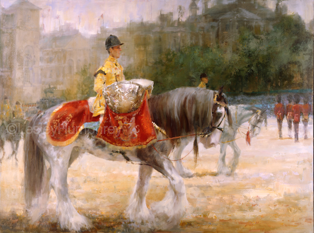 "ROYAL THUNDER (Constantine) 48"" x 32"" - oil on canvas"
