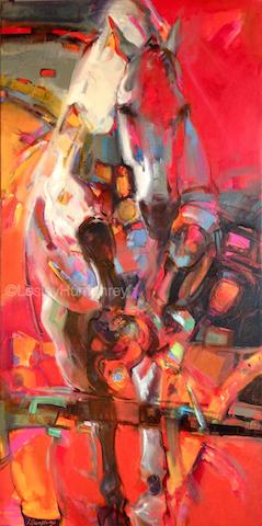 """ESCAPE VELOCITY 48"""" x 24"""" - oil on canvas"""