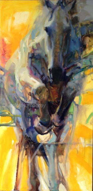 """BREAKTHROUGH 48"""" x 24"""" - oil on canvas"""