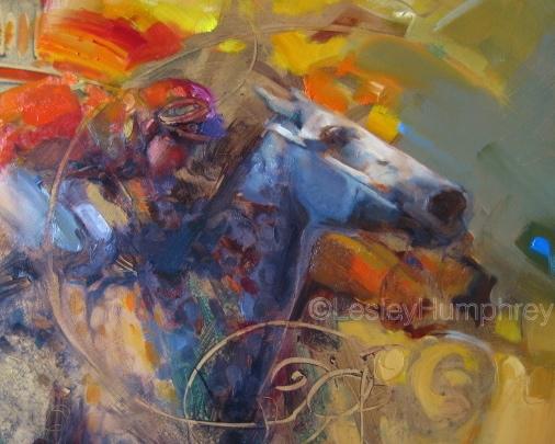 "UNBRIDLED SPIRIT 24"" x 24"" - oil on panel"
