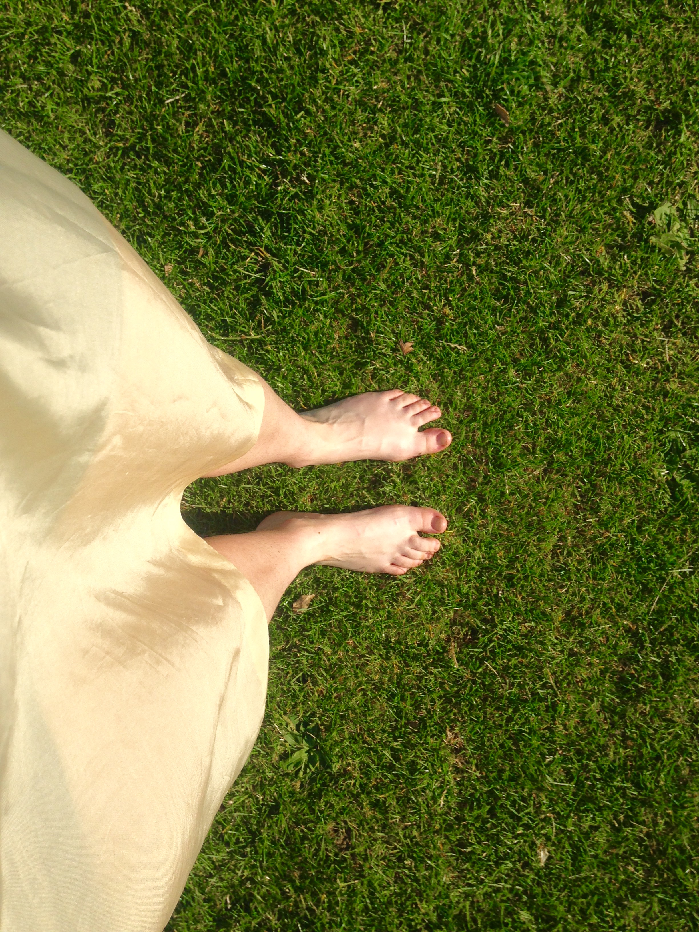 Read about the health benefits of grounding here - http://www.mindbodygreen.com/0-9099/the-surprising-health-benefits-of-going-barefoot.html