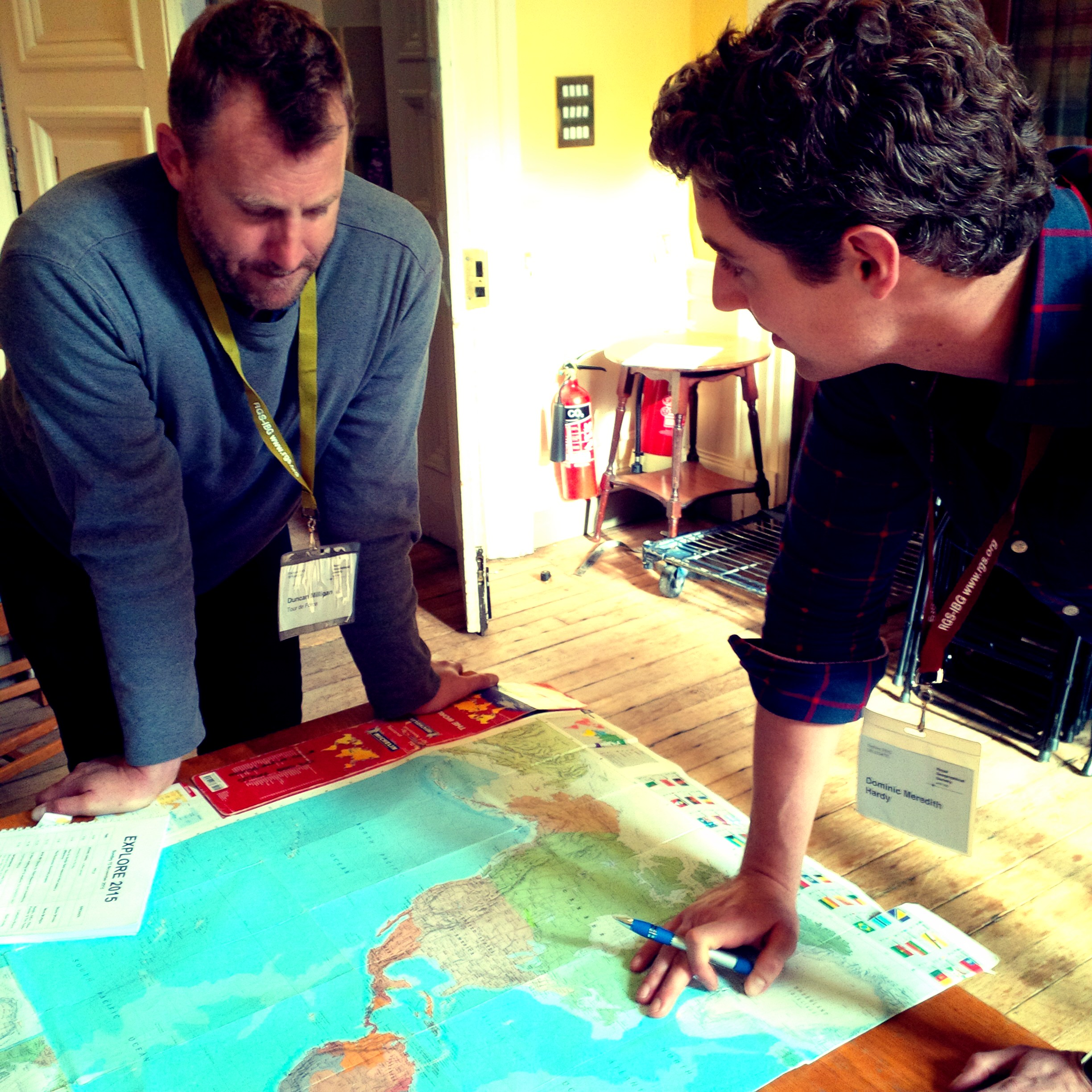 Dom route planning at the Royal Geographical Society