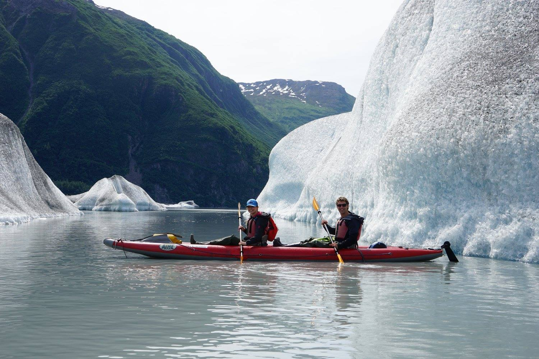 Exploring the Valdez Glacier, Alaska