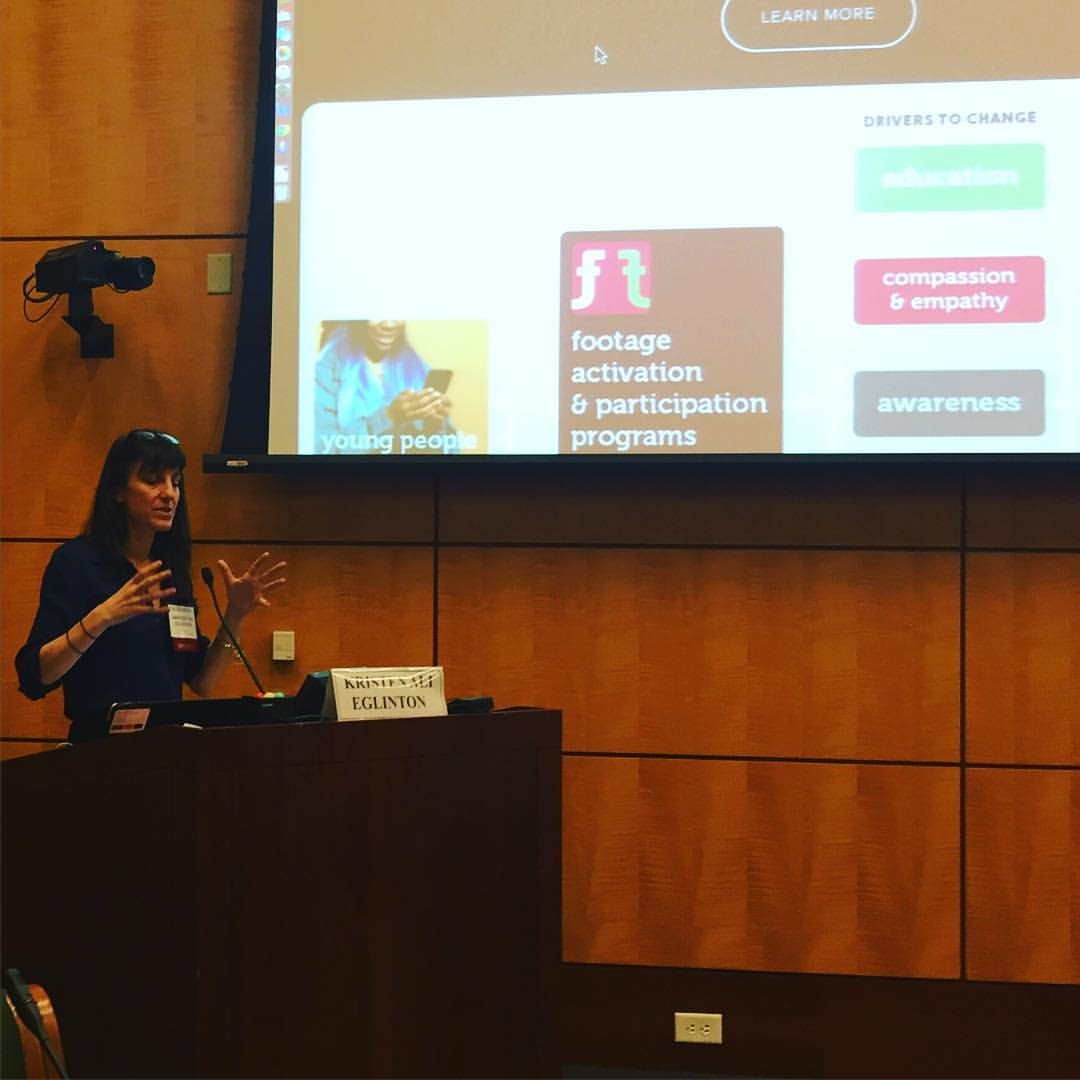 """Presenting """"Utilizing Technology and the Sustainable Development Goals to Amplify Youth Voices Globally and Ignite Change"""" with Footage Foundation at the National Academies 2016"""