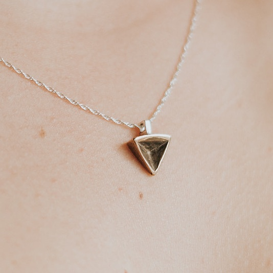 Bronze Geometric Triangle Necklace