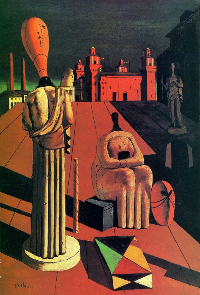 Las musas inquietantes, Giorgio de Chirico, 1947