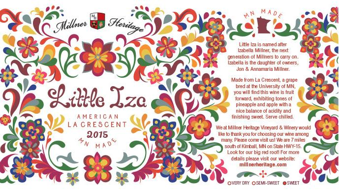 This label was designed with Hungarian motifs and paired with a traditional Hungarian color scheme, made by me (Andrea)!